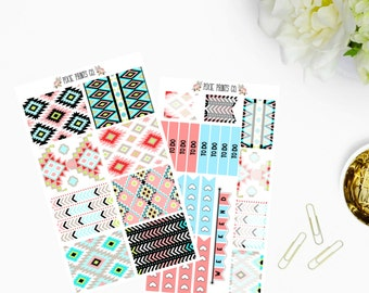 Aztec Planner Sticker Kit, for use with Erin Condren, Life Planner, Planner Stickers