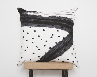 Cushion cover, Nordic style decor pillows, minimalist, home decor, black and white, hygge decor, fashion, glamour, polka dots
