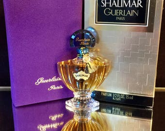 Shalimar Perfume 1/2 oz Guerlain Sealed Perfume Vintage 1970-1980s