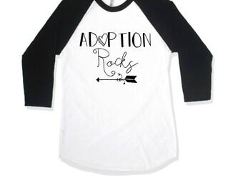 Kids Graphic Shirt. Kids Adoption Shirt. Kids Shirt. Adoption Shirt. Kids Toddler Raglan Style Baseball Sleeve Shirt. Max and Mae Kids