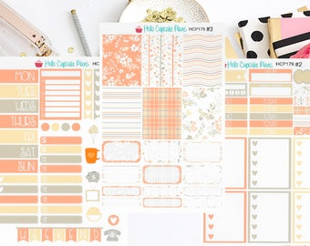 HCP179 Plaid and Floral Weekly Set (3 Pages)