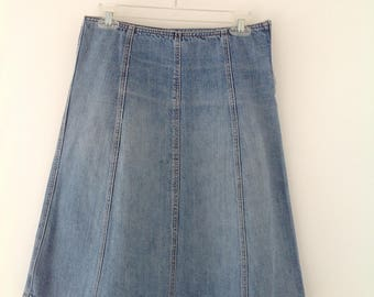 Vintage womens skirt Denim skirt Pencil skirt Hight waist