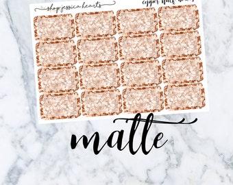 Copper Glitter Half Boxes (MATTE)