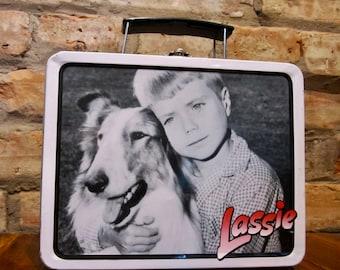 Vintage Lunchbox • 90s Lunch Box • Vintage Lassie Lunchbox • Vintage Metal Lunch Box • Mini Lunch Box Metal Tin Box • Collectible Lassie Dog