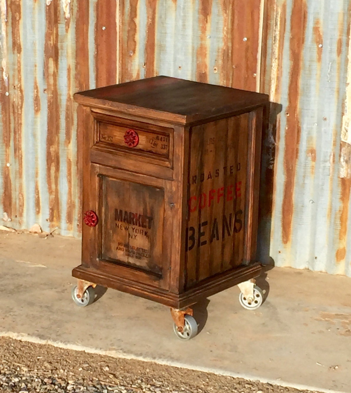 steampunk nightstand rolling industrial end table nightstand steampunk side table 780