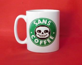 Undertale Sans Starbucks Inspired Coffee Mug 10oz