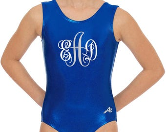 Monogram gymnastics leotard mystique nylon dance