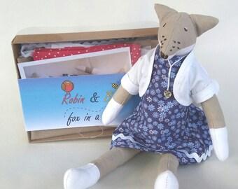 Fox doll craft box, make it yourself fox, Fox soft toy
