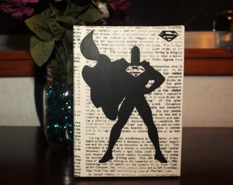 Superman Newsprint Canvas