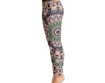 Mandala Yoga Tights. Unique Yoga Leggings. Fashion Leggings. Yoga Print Pants. Mandala Pants. Womens Stretch Leggings. Stretch Pants