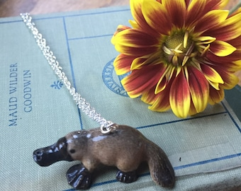 gorgeous and quirky platypus necklace, gift for your funky friend