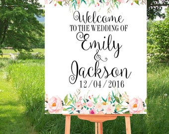 Personalized Wedding signs, Printable Wedding, Welcome Wedding Sign, Welcome to The Wedding Sign, Custom sign, Wedding Printables