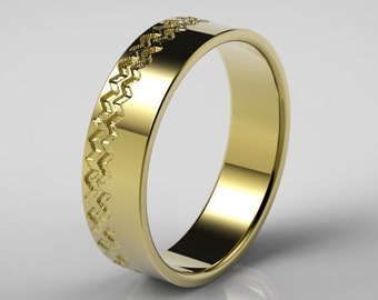 yellow gold wedding ring for men mens wedding ring gold ring mens gold - Mens Wedding Rings Unique