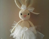 Bunny crochet pattern - toy rabbit gift baby plushies handmade unique amigurumi toys