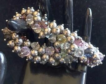 Cluster Beaded Bracelet//Beaded Bracelet//Women's Jewelry//Vintage Jewelry