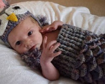 Owl hat and cocoon