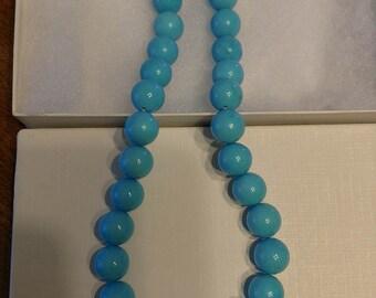 Lee Sands Blue Beaded Necklace