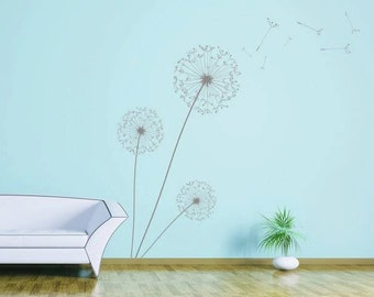World map wall decal etsy dandelion wall art vinyl wall decal available in 25 matt vinyl colours gumiabroncs Images