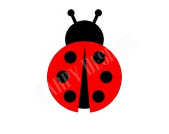 Ladybug SVG, Ladybug Clipart, Ladybug Monogram, SVG Files, Cricut Cut Files, Silhouette Cut Files