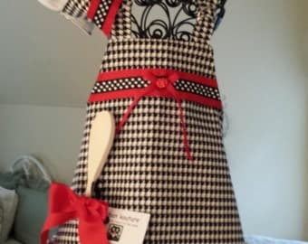 Little Girl's Apron and Chef's Hat Set
