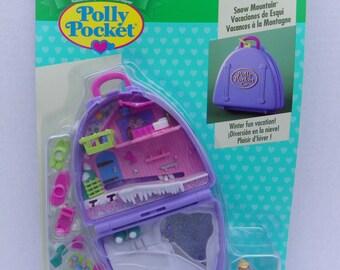 Vintage Rare Unopened New Polly Pocket Snow Mountain Vacation Fun , 1996 Bluebird Toys Mattel Polly Pocket #16840 NRFB , Polly Pocket Dolls