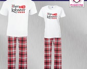 Couples Pajamas Lobster D...