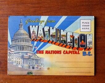 Antique Washington D.C. Souvenir Folder - 1930s - 18 Views