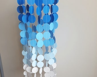 Blue Baby Mobile, Baby Mobiles, Baby boy, Blue Ombre, Party Decor, Nursery Decor, Boys Room, Paper Mobile, Baby Shower Gift , Blues