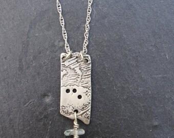 Silver Vintage Button Pendant