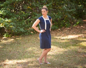 Vintage Navy Dress with Jacket