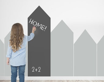 scandinavian HOUSE pattern Blackboard Chalkboard Wall Decal vinyl sticker CGhome