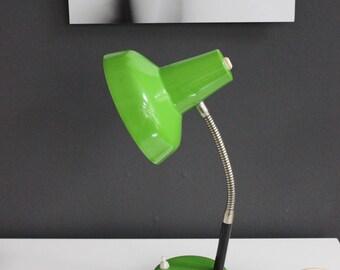 Vintage table lamp, table lamp, desk lamp, table lamp, desk lamp, green metal Lampshade, 70's