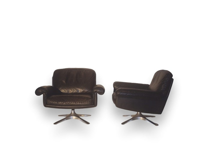 De Sedes DS31 Leather Longe Chairs (pair)