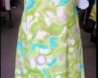 Vintage 1960s Watercolor Gown
