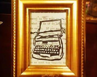 Typewriter Block Print