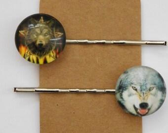 Wolf Hair Clips/ Bobby Pins Set A.