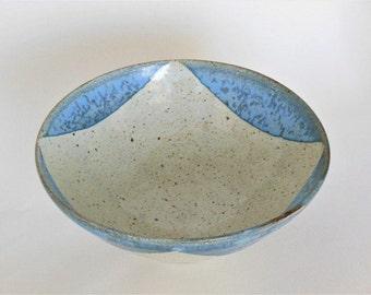 Handmade Bowl, Pottery Bowl, Large Bowl, Blue and White Bowl, Ceramic Bowl, Stoneware Bowl, Serving Bowl,