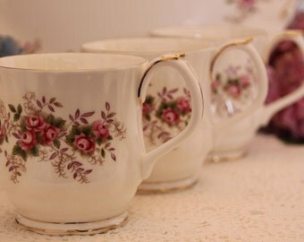 Set of three Royal Albert Lavender Rose Mugs First Quality Gift for Her