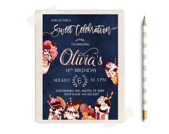 Sweet 16 invitation,  Sweet Shoppe Party, Candyland Invitation, Candyland Birthday Invitations, Sweet 16 Birthday Invitations, Sweet invites