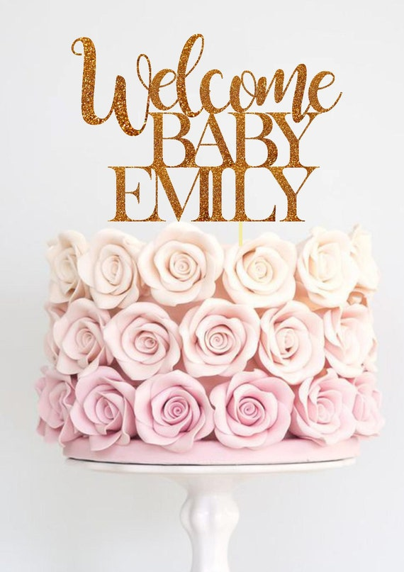 baby shower cake toppers baby shower cake topper welcome baby cake topper baby shower 1438