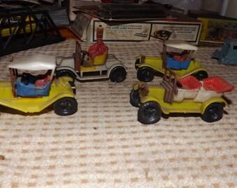 Vintage Plastic Cars  (set of 6)