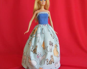 Barbie Ball Gown: barbie doll clothes, barbie clothes, barbie dress, fashion doll dress, princess barbie, barbie princess, buttercup dress