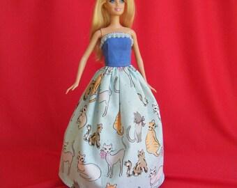 Barbie Ball Gown: barbie doll clothes, barbie clothes, barbie dress, fashion doll dress, princess barbie, barbie princess, buttercup dress
