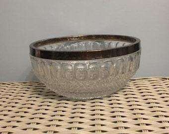 Vintage Cut Glass Serving Bowl