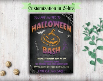 Printable spooky Halloween party invitations Halloween invitations printable Adult halloween invitation download halloween invites Costume