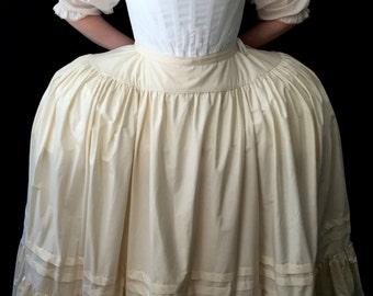 Marie Antoinette Full Figured 18th century petticoat or skirt, Costume themed wedding 18th c. silhouette dress ensemble underwear cosplay