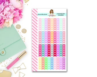 Personal size check list planner stickers