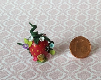 Strawberry miniature Teapot