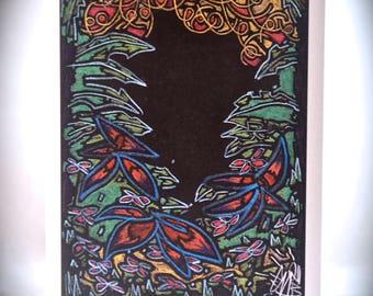 Euphorian Escapes - original artwork - plain gift card