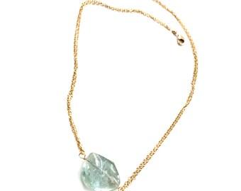 Blue Topaz Necklace--Topaz Necklace--Blue Topaz Jewelry--Swiss Blue Topaz Necklace